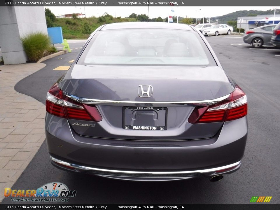 2016 Honda Accord LX Sedan Modern Steel Metallic / Gray Photo #9