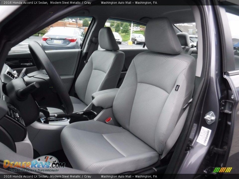 2016 Honda Accord LX Sedan Modern Steel Metallic / Gray Photo #12