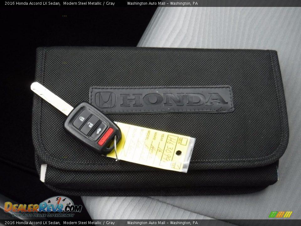 2016 Honda Accord LX Sedan Modern Steel Metallic / Gray Photo #23