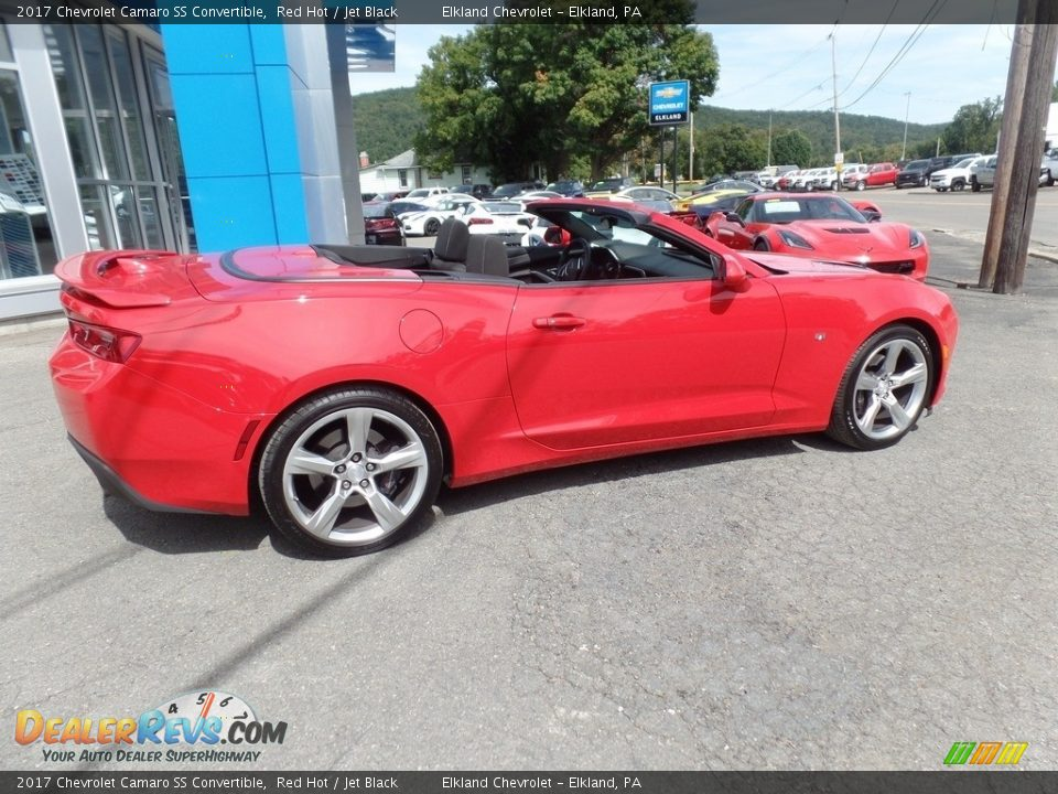 2017 Chevrolet Camaro SS Convertible Red Hot / Jet Black Photo #9