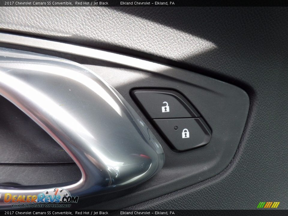 2017 Chevrolet Camaro SS Convertible Red Hot / Jet Black Photo #16