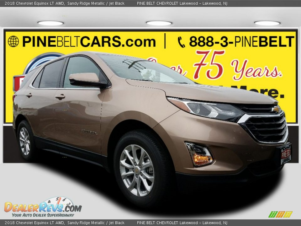 2018 Chevrolet Equinox LT AWD Sandy Ridge Metallic / Jet Black Photo #1
