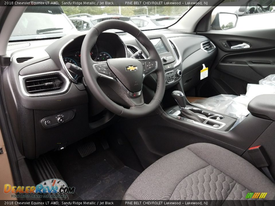 2018 Chevrolet Equinox LT AWD Sandy Ridge Metallic / Jet Black Photo #7