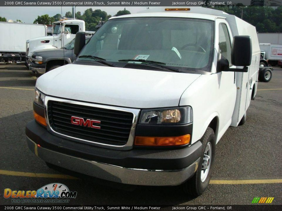 2008 gmc savana cutaway 3500 commercial utility truck. Black Bedroom Furniture Sets. Home Design Ideas