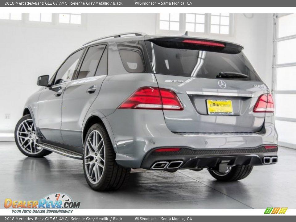 2018 Mercedes-Benz GLE 63 AMG Selenite Grey Metallic / Black Photo #3