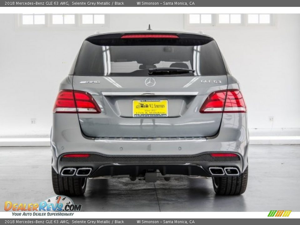 2018 Mercedes-Benz GLE 63 AMG Selenite Grey Metallic / Black Photo #4