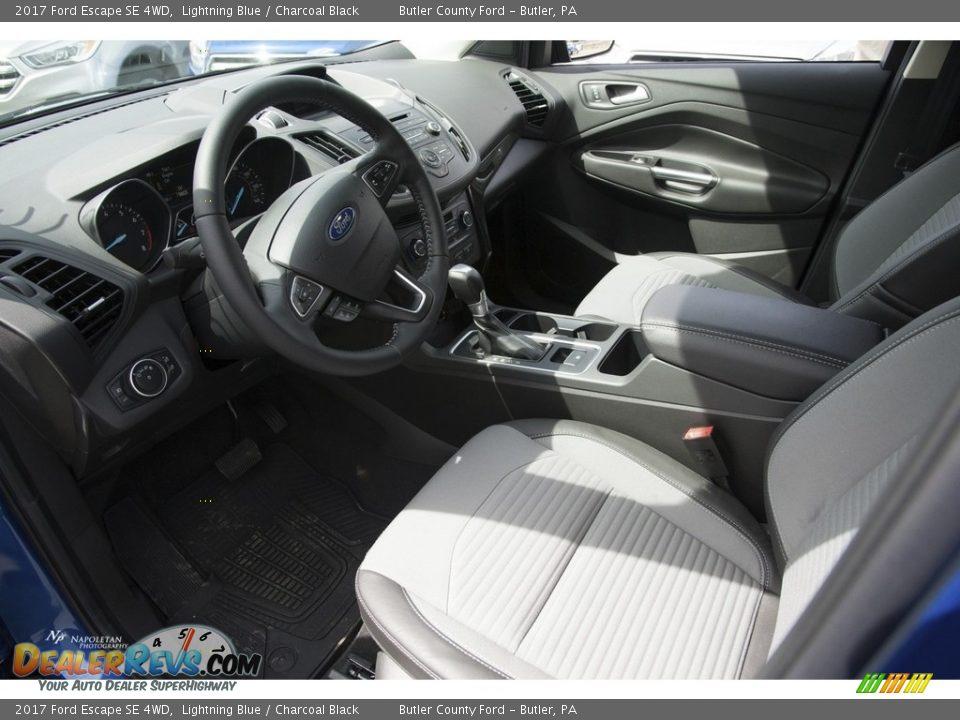 2017 Ford Escape SE 4WD Lightning Blue / Charcoal Black Photo #6