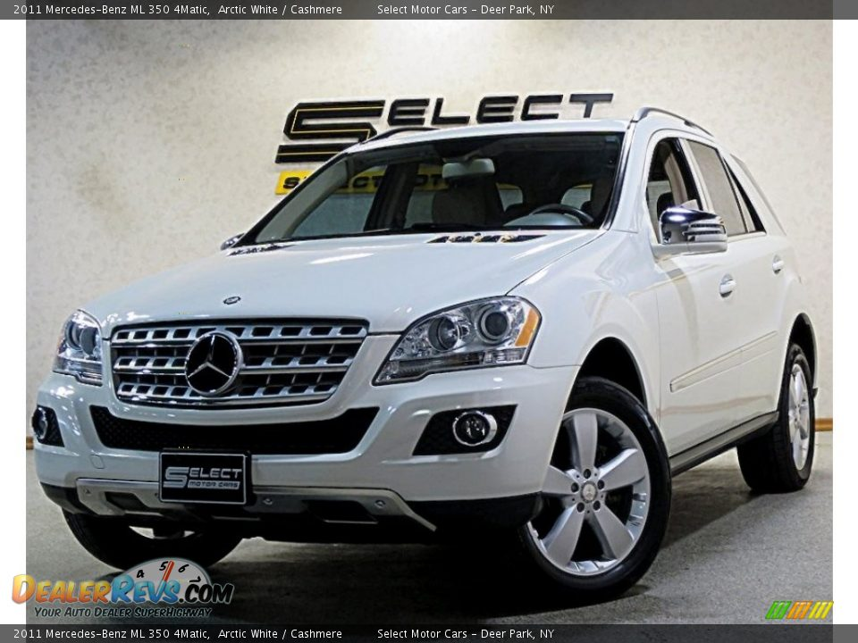 2011 Mercedes-Benz ML 350 4Matic Arctic White / Cashmere Photo #1
