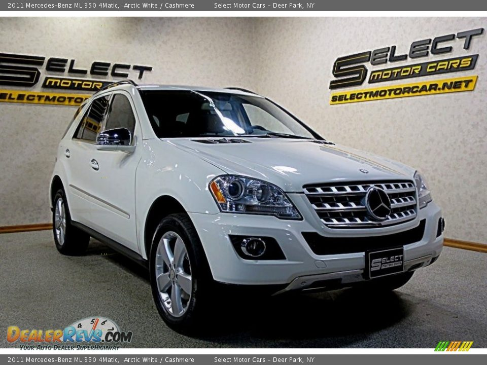 2011 Mercedes-Benz ML 350 4Matic Arctic White / Cashmere Photo #3