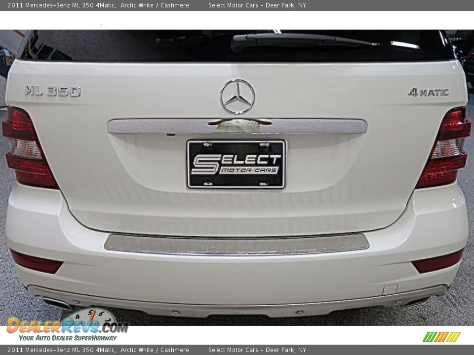 2011 Mercedes-Benz ML 350 4Matic Arctic White / Cashmere Photo #5