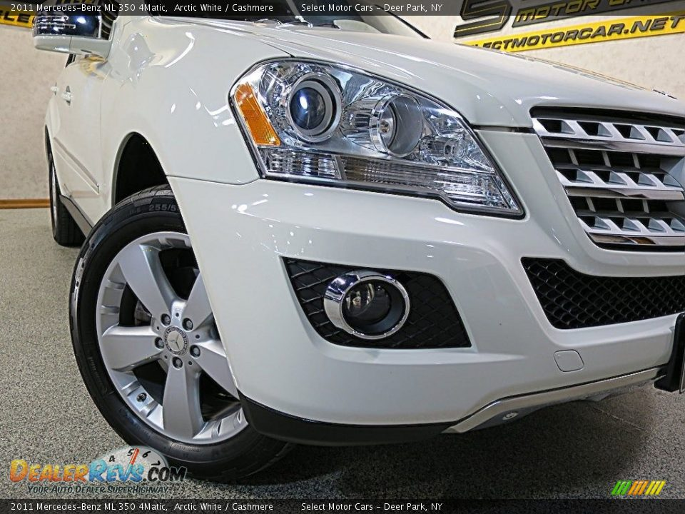 2011 Mercedes-Benz ML 350 4Matic Arctic White / Cashmere Photo #7