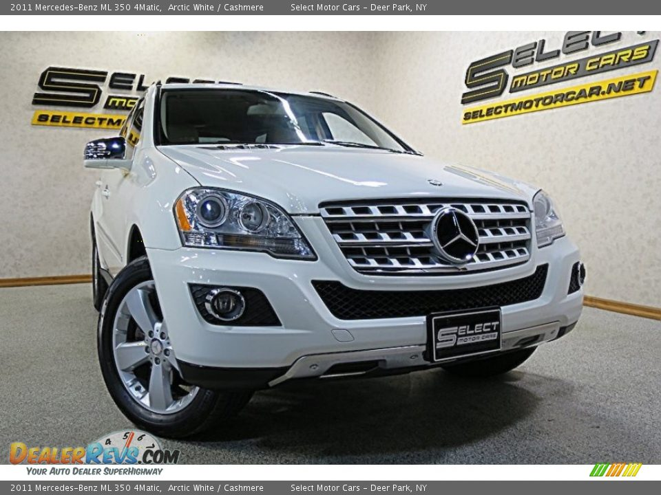 2011 Mercedes-Benz ML 350 4Matic Arctic White / Cashmere Photo #9