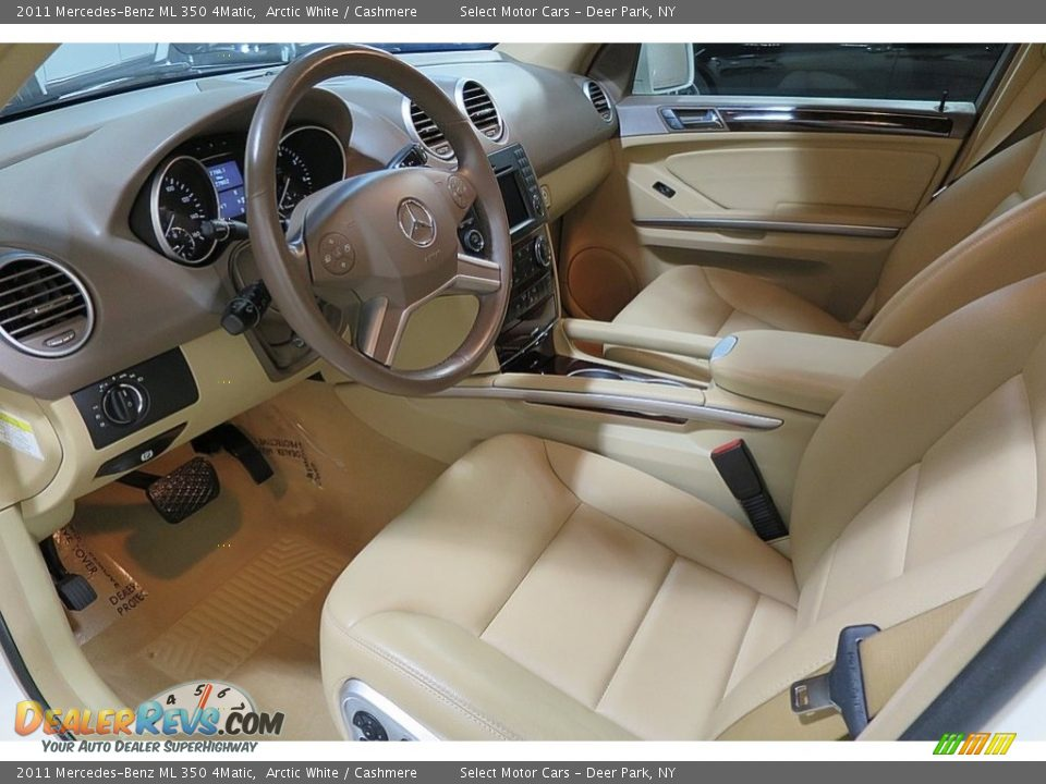 2011 Mercedes-Benz ML 350 4Matic Arctic White / Cashmere Photo #13