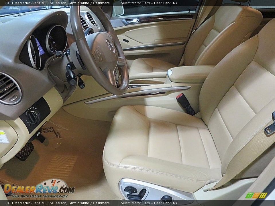 2011 Mercedes-Benz ML 350 4Matic Arctic White / Cashmere Photo #14