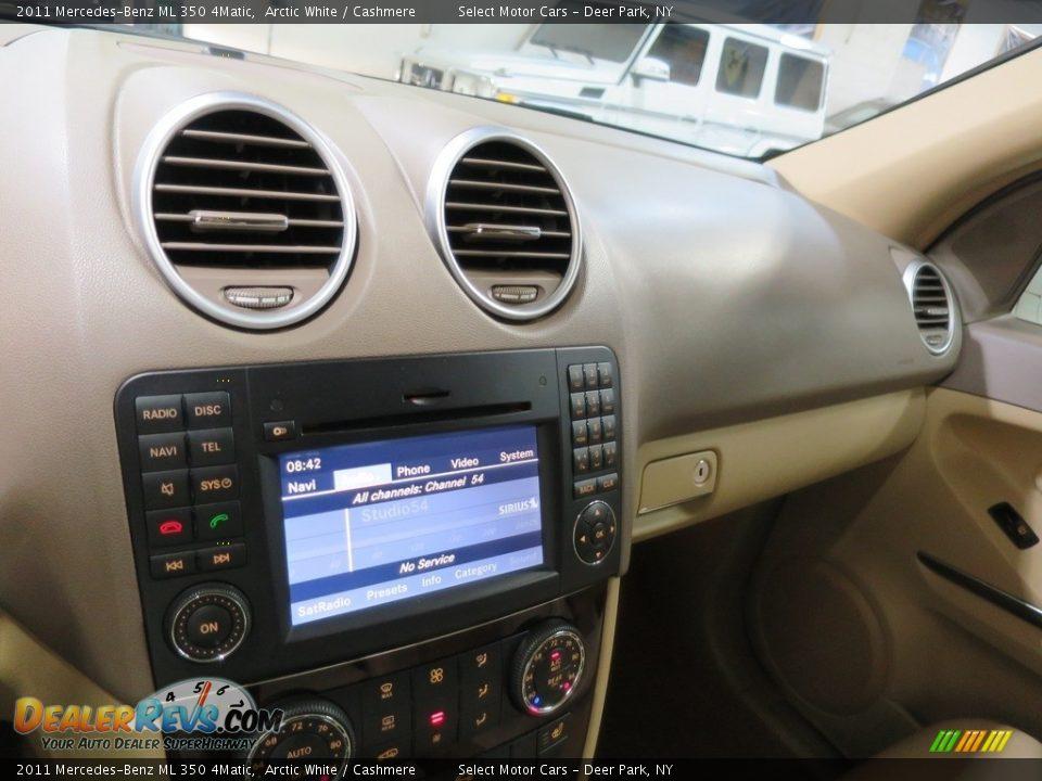 2011 Mercedes-Benz ML 350 4Matic Arctic White / Cashmere Photo #25