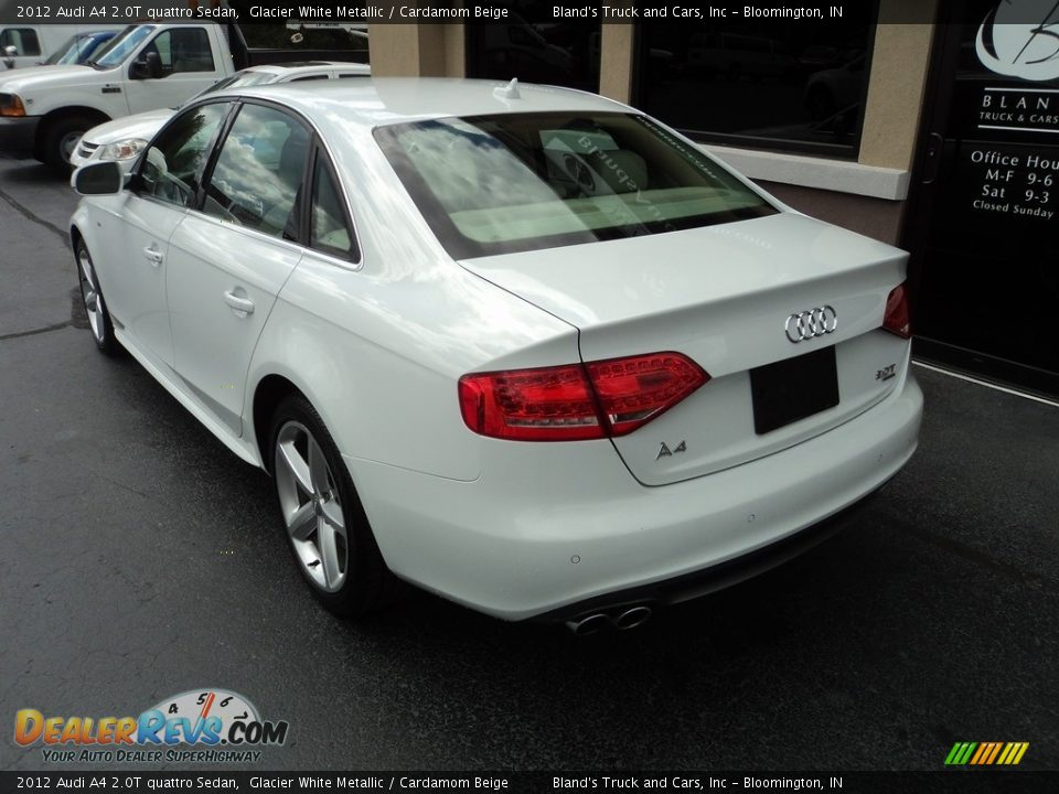 2012 Audi A4 2.0T quattro Sedan Glacier White Metallic / Cardamom Beige Photo #3