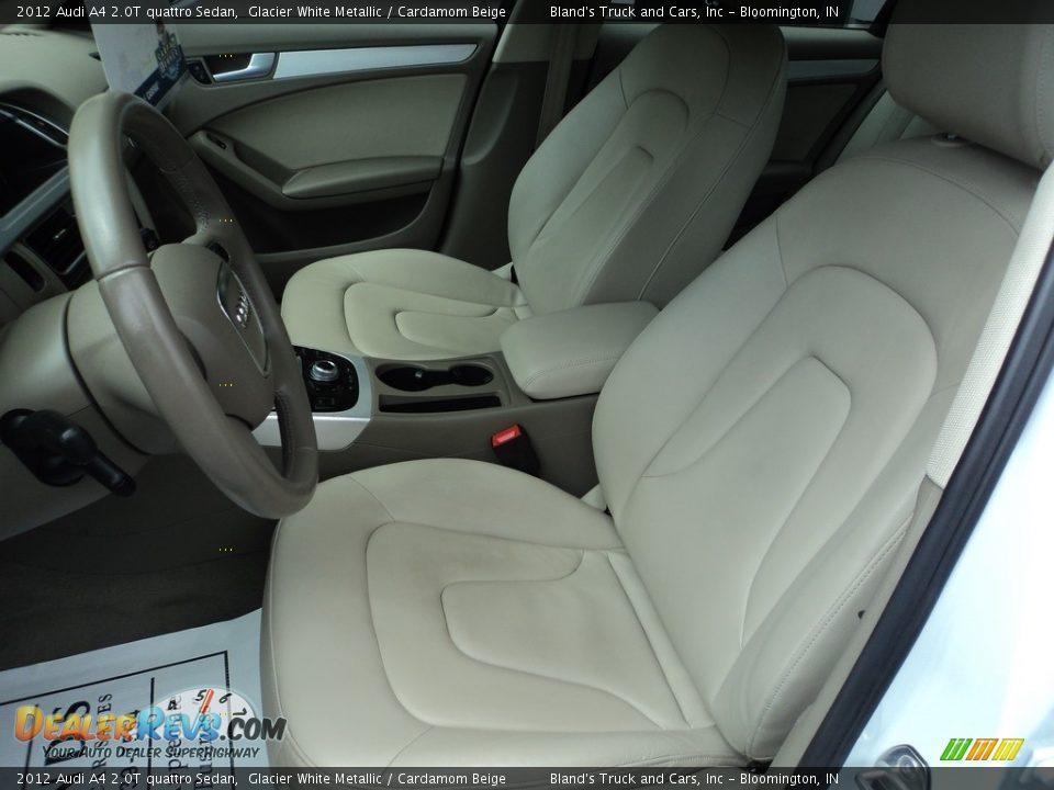 2012 Audi A4 2.0T quattro Sedan Glacier White Metallic / Cardamom Beige Photo #7