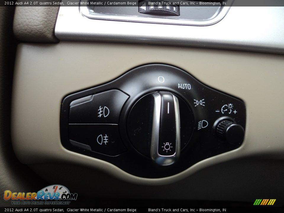 2012 Audi A4 2.0T quattro Sedan Glacier White Metallic / Cardamom Beige Photo #13