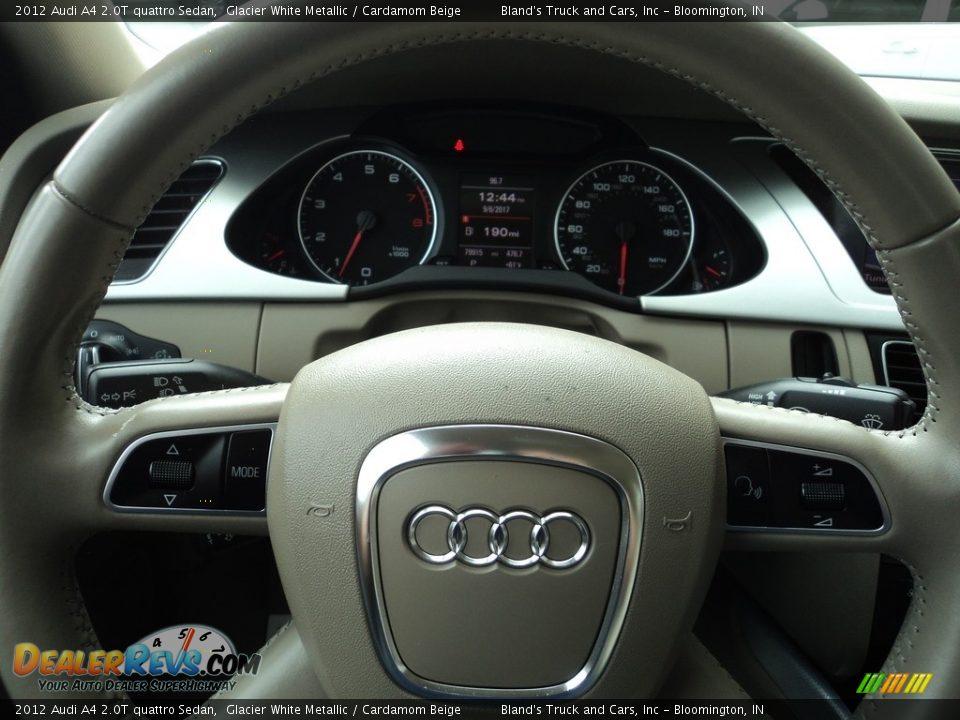 2012 Audi A4 2.0T quattro Sedan Glacier White Metallic / Cardamom Beige Photo #14