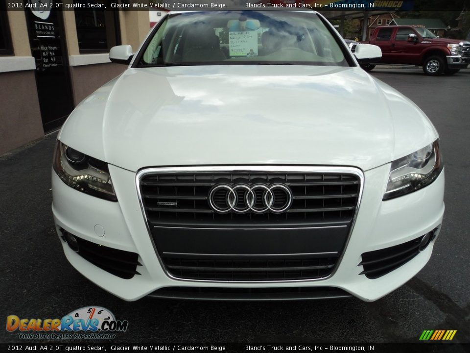 2012 Audi A4 2.0T quattro Sedan Glacier White Metallic / Cardamom Beige Photo #28