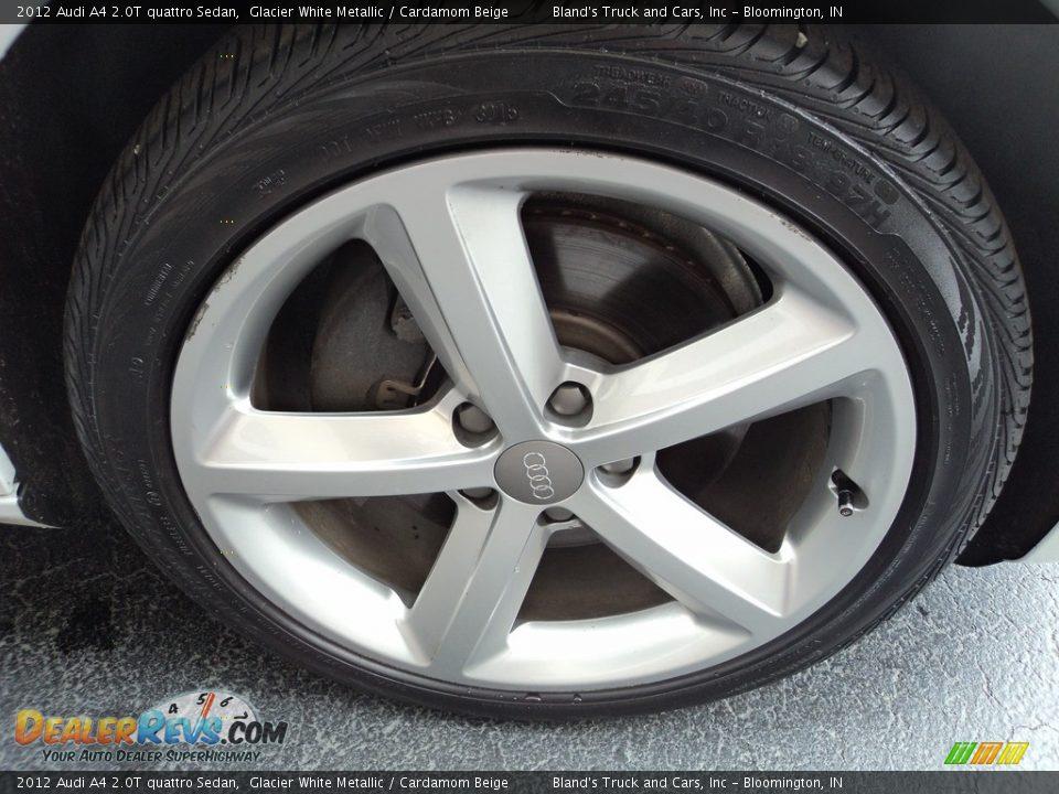 2012 Audi A4 2.0T quattro Sedan Glacier White Metallic / Cardamom Beige Photo #29