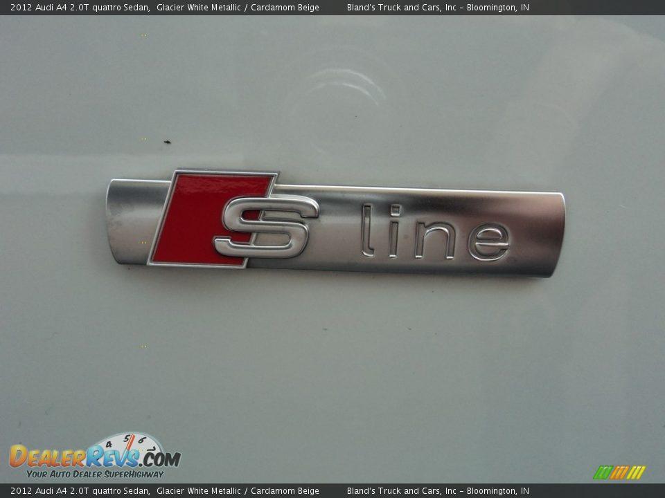 2012 Audi A4 2.0T quattro Sedan Glacier White Metallic / Cardamom Beige Photo #30