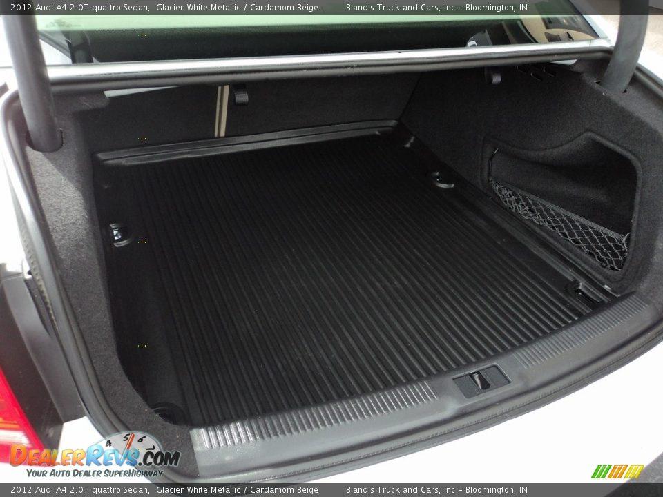 2012 Audi A4 2.0T quattro Sedan Glacier White Metallic / Cardamom Beige Photo #34