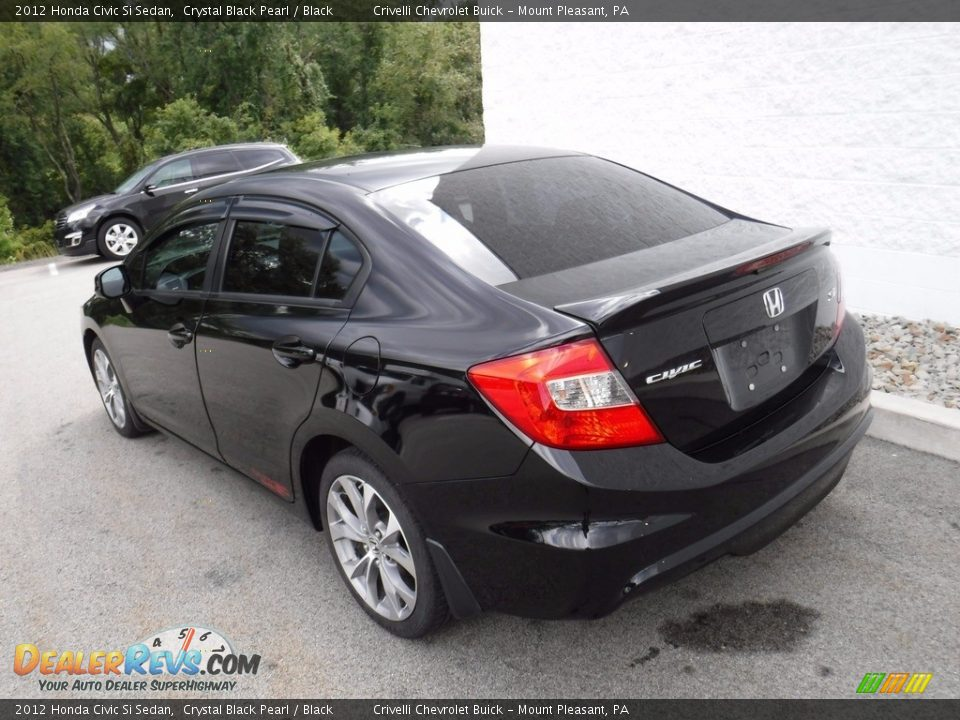 2012 Honda Civic Si Sedan Crystal Black Pearl / Black Photo #12