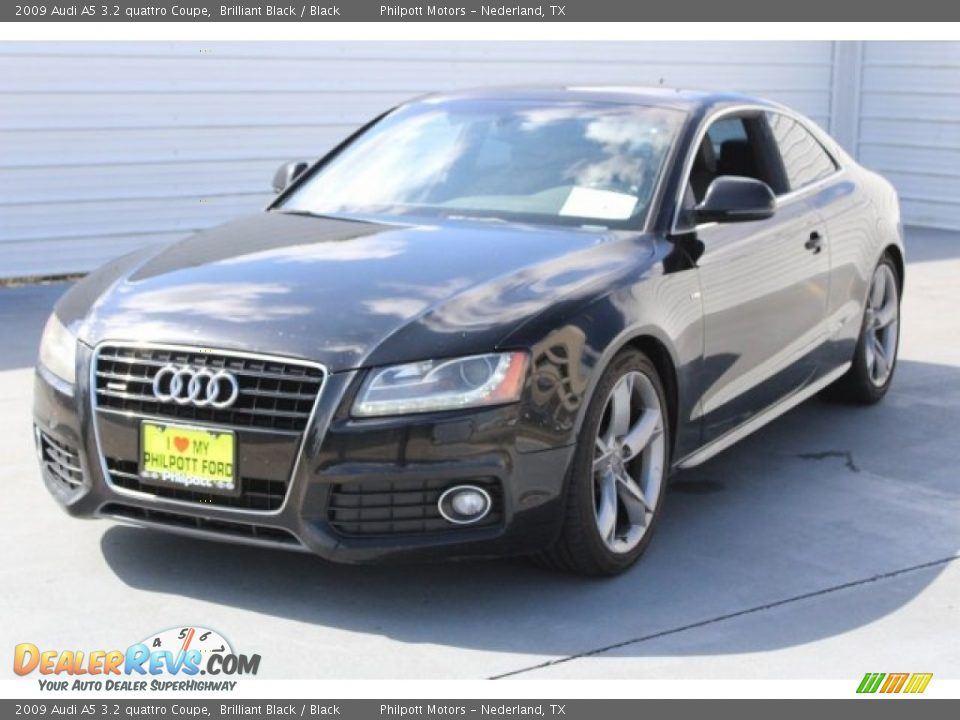 2009 Audi A5 3.2 quattro Coupe Brilliant Black / Black Photo #3
