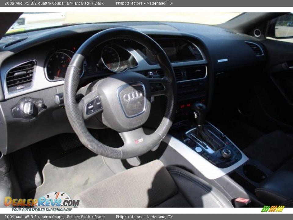 2009 Audi A5 3.2 quattro Coupe Brilliant Black / Black Photo #14