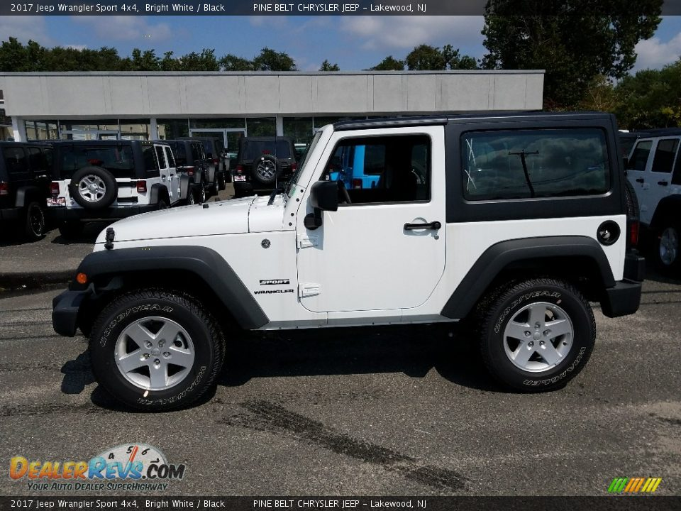 2017 Jeep Wrangler Sport 4x4 Bright White / Black Photo #3