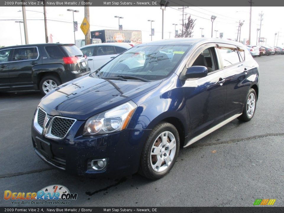 2009 Pontiac Vibe 2.4 Navy Blue Metallic / Ebony Photo #2