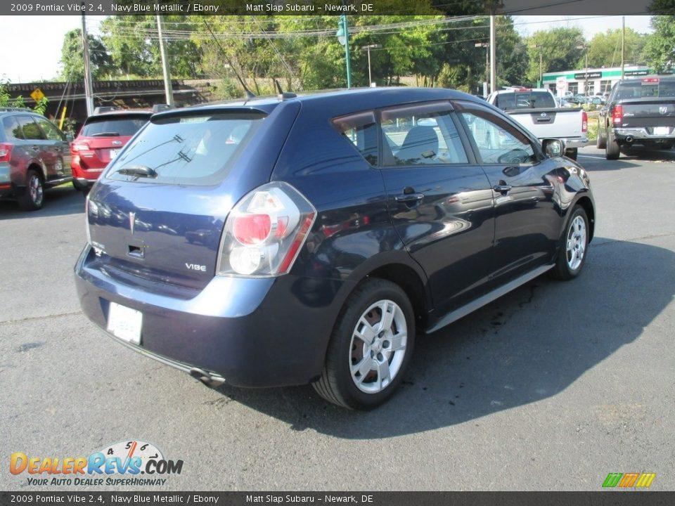 2009 Pontiac Vibe 2.4 Navy Blue Metallic / Ebony Photo #6