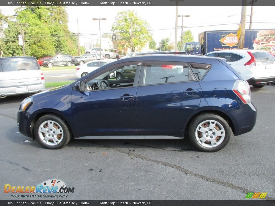 2009 Pontiac Vibe 2.4 Navy Blue Metallic / Ebony Photo #9