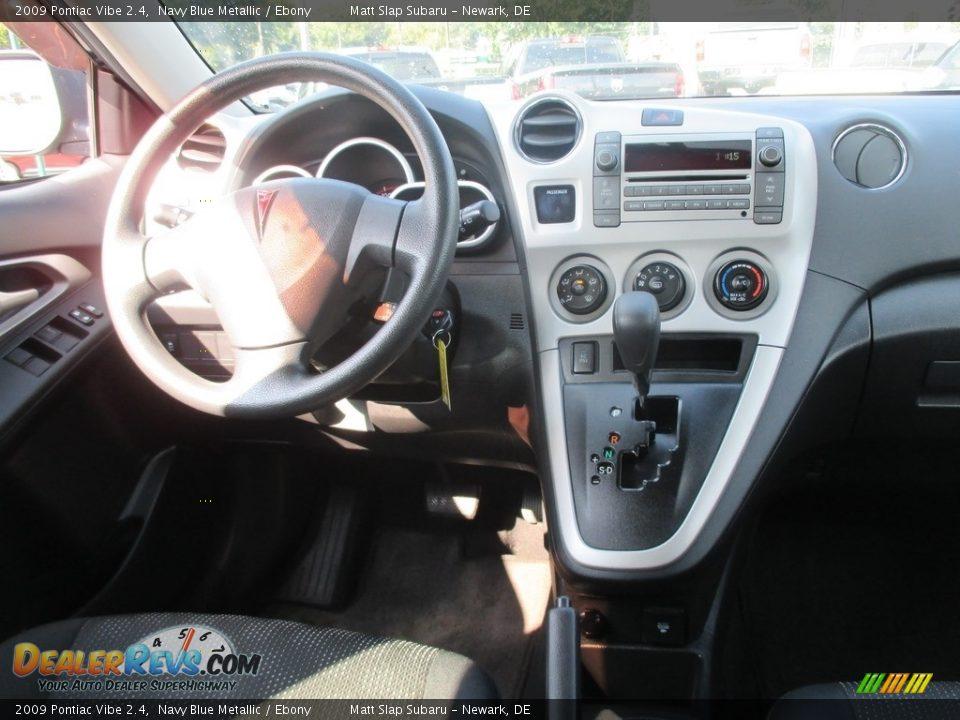 2009 Pontiac Vibe 2.4 Navy Blue Metallic / Ebony Photo #10
