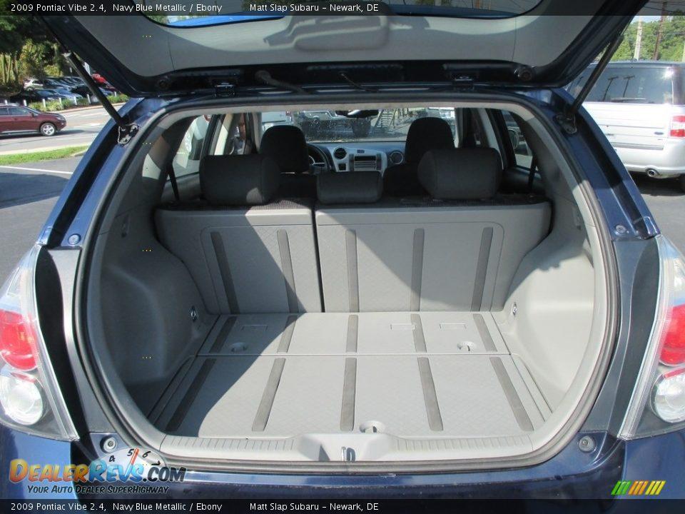 2009 Pontiac Vibe 2.4 Navy Blue Metallic / Ebony Photo #19