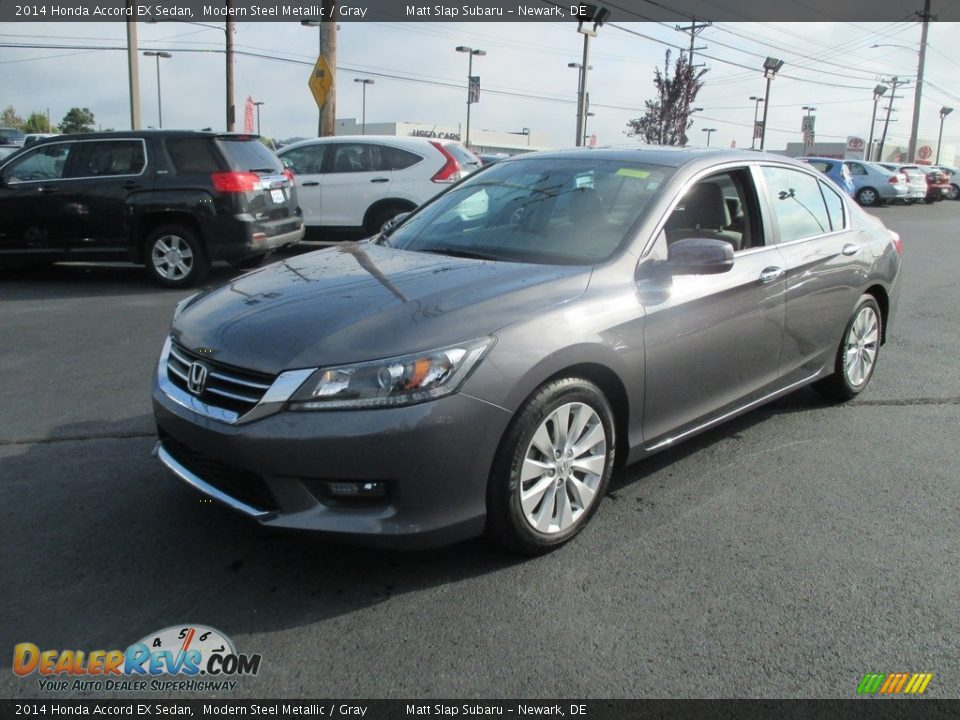 2014 Honda Accord EX Sedan Modern Steel Metallic / Gray Photo #2