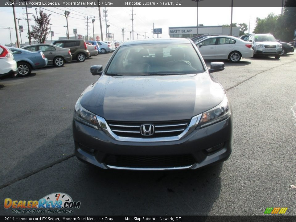2014 Honda Accord EX Sedan Modern Steel Metallic / Gray Photo #3