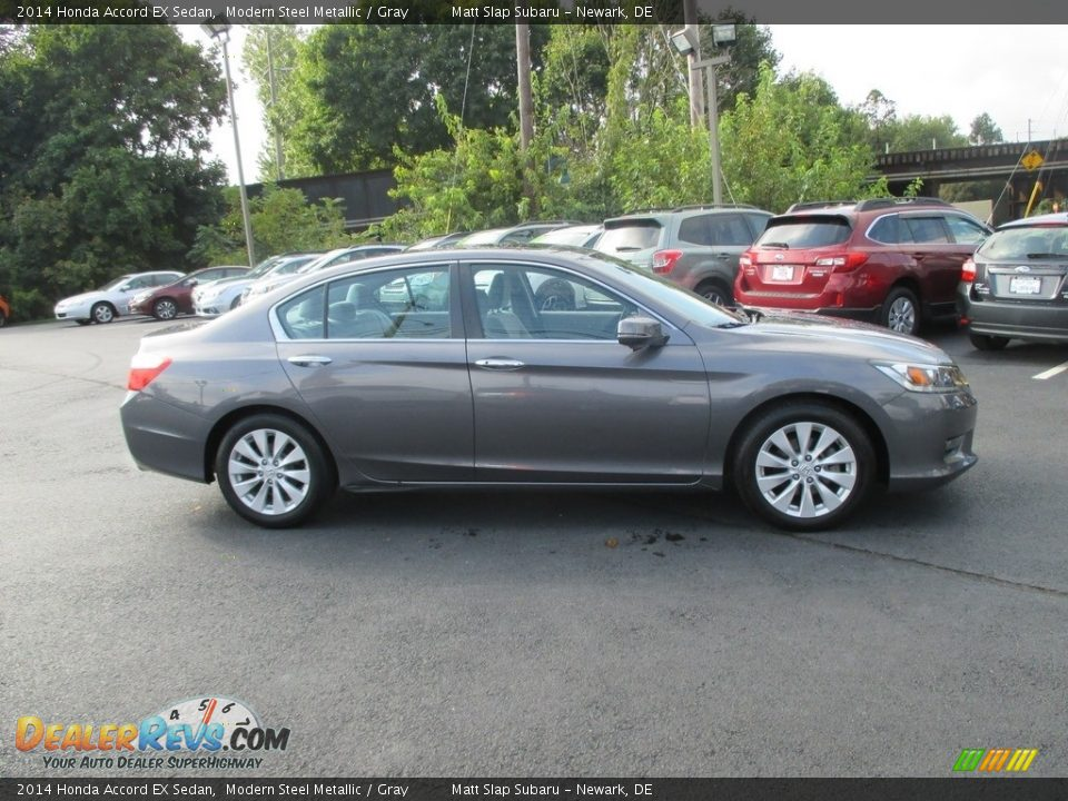 2014 Honda Accord EX Sedan Modern Steel Metallic / Gray Photo #5
