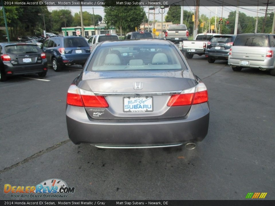 2014 Honda Accord EX Sedan Modern Steel Metallic / Gray Photo #7