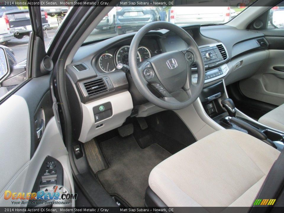 2014 Honda Accord EX Sedan Modern Steel Metallic / Gray Photo #11