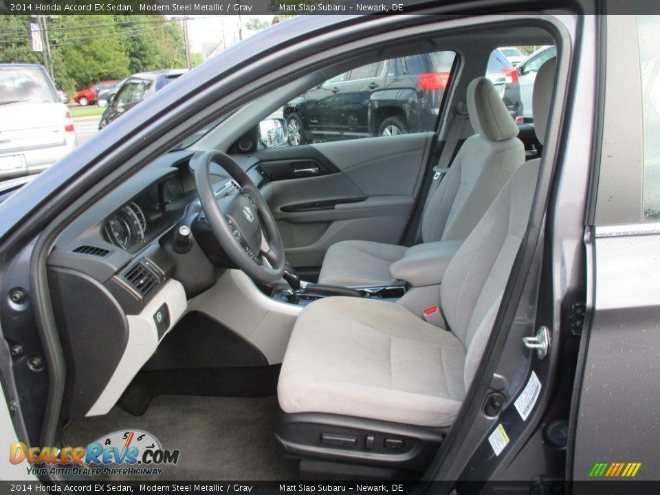 2014 Honda Accord EX Sedan Modern Steel Metallic / Gray Photo #12