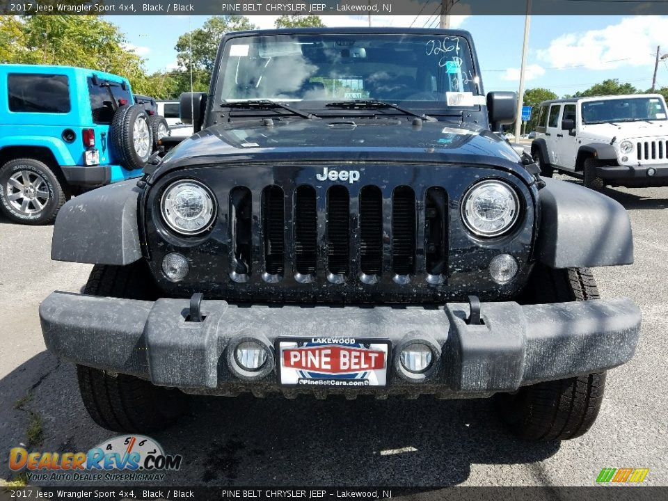 2017 Jeep Wrangler Sport 4x4 Black / Black Photo #2