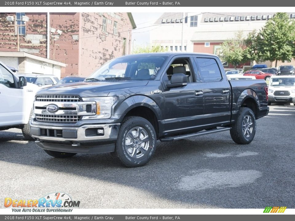 2018 Ford F150 XLT SuperCrew 4x4 Magnetic / Earth Gray Photo #1