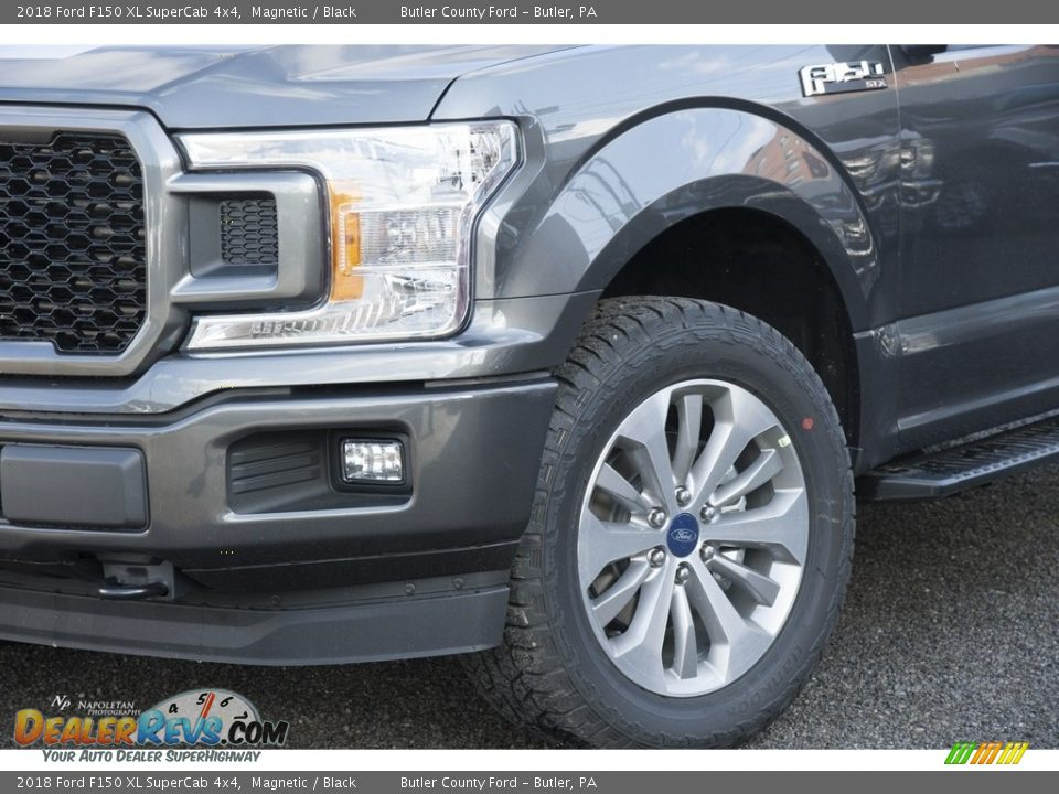 2018 Ford F150 XL SuperCab 4x4 Magnetic / Black Photo #2