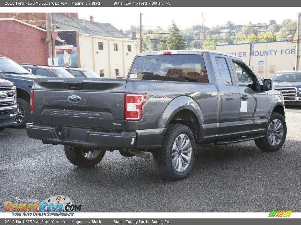 2018 Ford F150 XL SuperCab 4x4 Magnetic / Black Photo #5