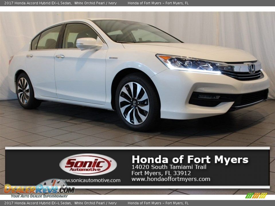 2017 Honda Accord Hybrid EX-L Sedan White Orchid Pearl / Ivory Photo #1
