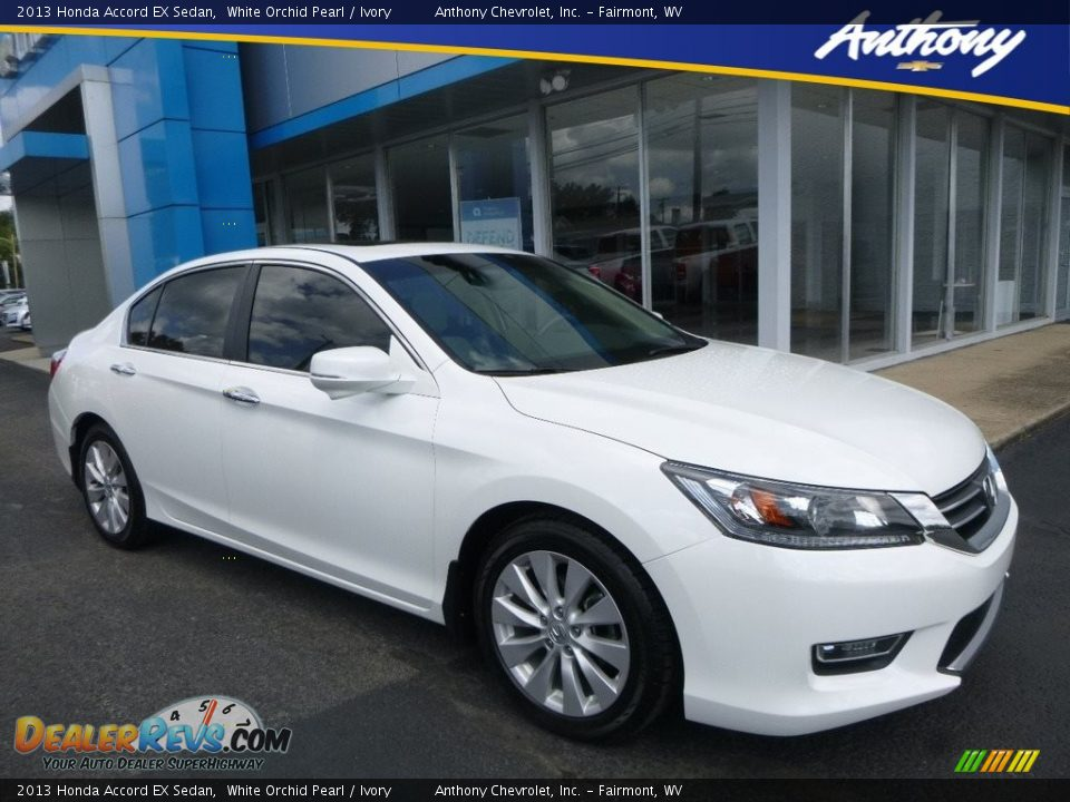 2013 Honda Accord EX Sedan White Orchid Pearl / Ivory Photo #1