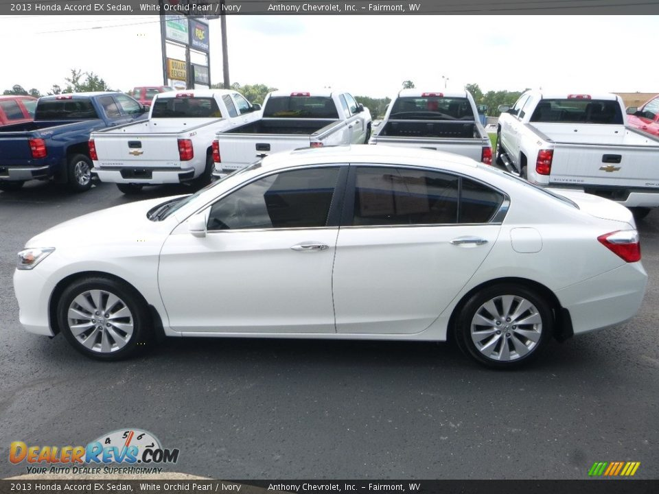 2013 Honda Accord EX Sedan White Orchid Pearl / Ivory Photo #7