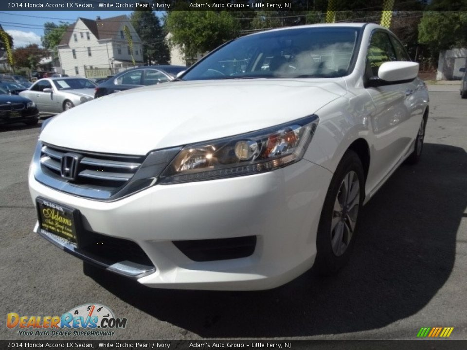 2014 Honda Accord LX Sedan White Orchid Pearl / Ivory Photo #3